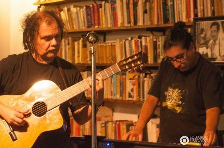 Walter Soria con Juan Namuncura Mordisquito