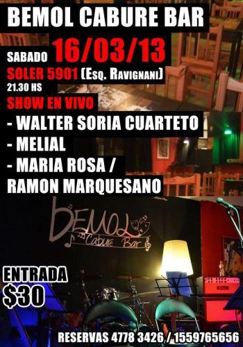 Walter Soria en Bemol Cabure Bar 16-3-13