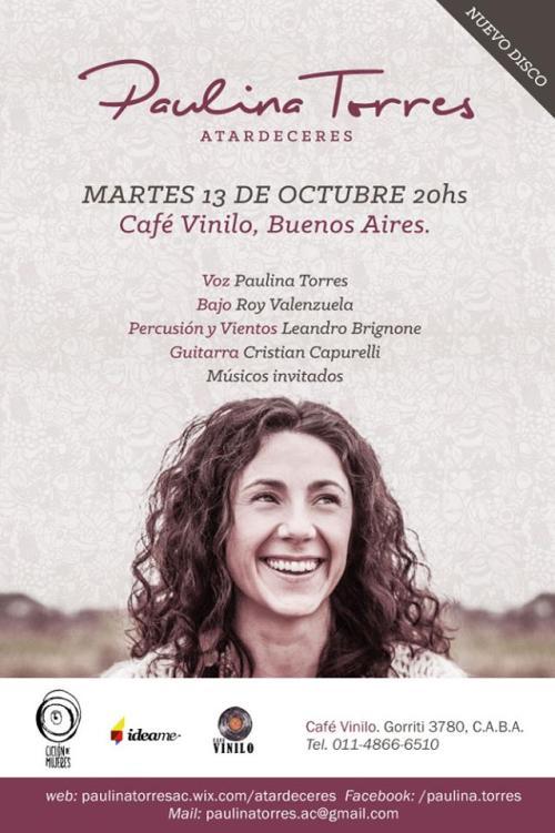 Paulina Torres flyer