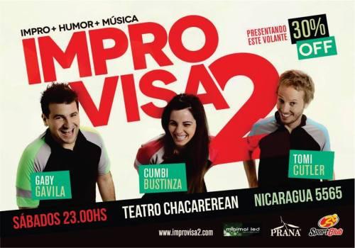MPROVISA2 •sabados 23hs• en #Palermo ? Teatro Chacrerean [Nicaragua 5565]
