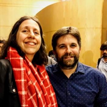 Con el director Mariano Dossena-foto Silvina Pizarro